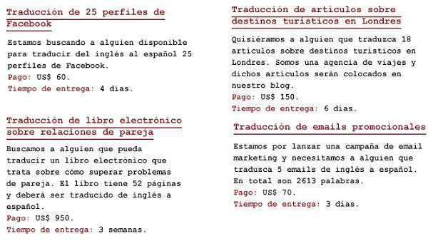 trabajar como traductor de textos