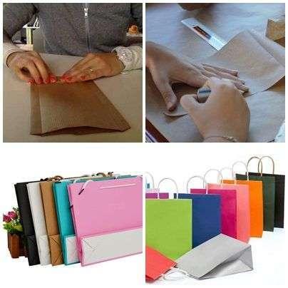 trabajos en casa haciendo bolsas